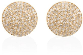 Shay 18kt Gold Round Pave Diamond Stud Earrings