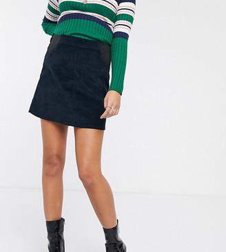 Mama Licious Mama.Licious Mamalicious maternity cord mini skirt in navy-Grey