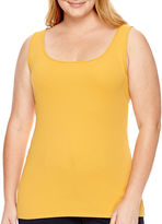 JCPenney STYLUS Stylus Ribbed Tank Top - Plus