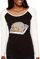 Novelty Licensed Pusheen Raglan-Sleeve Graphic T-Shirt