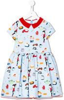 Simonetta cooking flared dress