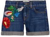Gucci Children's denim short with flowers