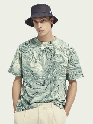 Scotch & Soda Cotton marble dye short sleeve t-shirt | Men