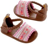 Carter's Newborn Baby Girl Embroidered Espadrille Crib Shoes