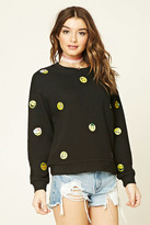 Forever 21 FOREVER 21+ Smiles Patch Sweatshirt