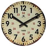 Infinity Instruments Vintage 1886 Decorative Wall Clock Beige