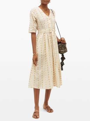Ace&Jig Leelee Fil-coupe Gingham Cotton-blend Shirtdress - Womens - Beige Multi