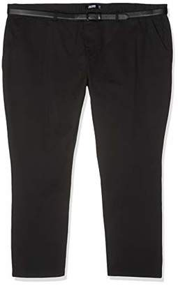 "Jacamo Men's Smart Belt Chino 33"" Long Trousers, (Black 001), (Size:38L)"