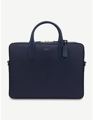 Smythson Panama Slim Leather briefcase