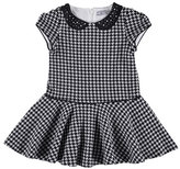 Mayoral Embellished Houndstooth Dress, Size 3-7