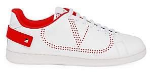 Valentino Men's Garavani Perforated V Logo Leather Sneakers