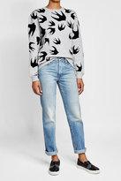 Karl Lagerfeld Leather Slip-On Sneakers