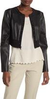 BCBGMAXAZRIA Faux Leather Crop Jacket