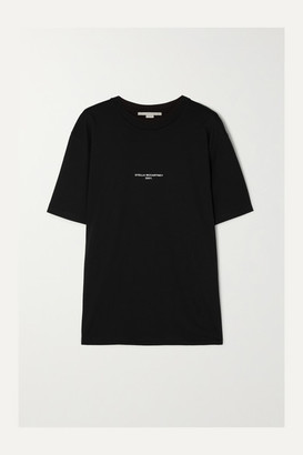 Stella McCartney Printed Cotton-jersey T-shirt - Black