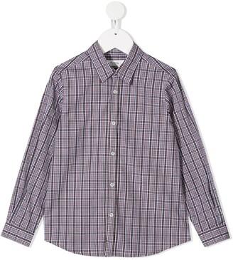 Bonpoint Plaid-Check Long-Sleeved Shirt