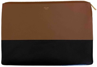 Celine Brown Leather Clutch bags
