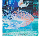 Etro Men's Mermaid-&-Sailboat-Print Silk Pocket Square