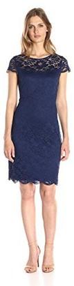 Lark & Ro Amazon Brand Women's Cap Sleeve Lace Dress