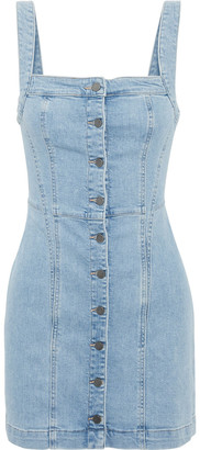 DL1961 Rhea Button-detailed Denim Mini Dress