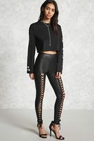 Forever 21 FOREVER 21+ Faux Leather Lace-Up Leggings