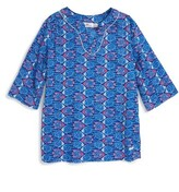 Vineyard Vines Girl's Fish Print Cotton Tunic