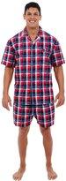 Alexander Del Rossa Del Rossa Men's 100% Cotton Woven Pajama Shorts Set, (CA-A0697BRGMD)