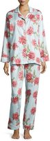 BedHead Rose-Print Classic Pajama Set, Light Blue