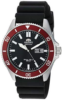 Orient Men's Kano Stainless Steel Japanese-Automatic Diving Watch with Silicone Strap