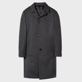 Paul Smith Men's Grey Wool Herringbone Top Coat