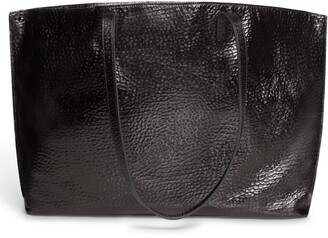 Akris AI Hammered Calfskin Leather Tote