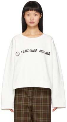 MM6 MAISON MARGIELA White Logo Sweatshirt