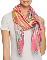 Echo Eden Broken Stripe Oversized Wrap Scarf