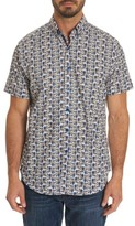 Robert Graham Men's Basin Classic Fit Print Sport Shirt