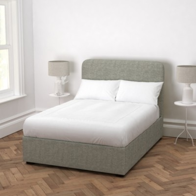 The White Company Melbury Tweed Bed, Tweed Mid Grey, Double