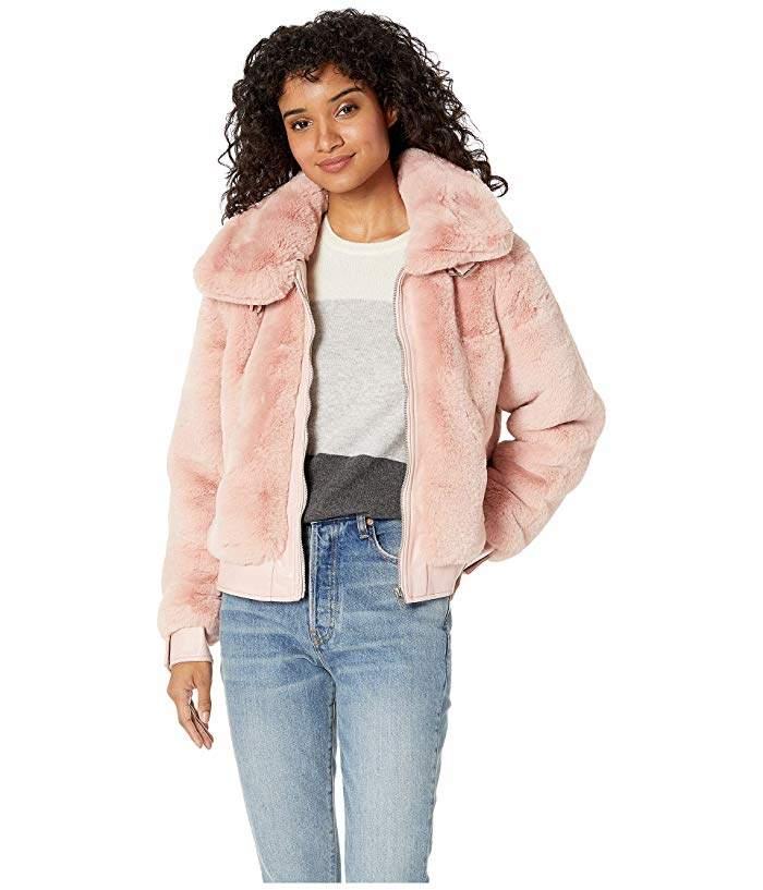 Blank NYC Faux Fur Jacket in Internet Hobo