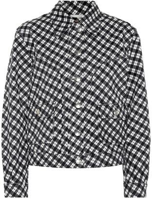 ALEXACHUNG Checked denim jacket