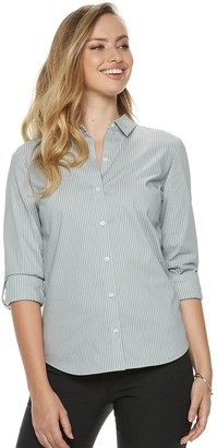Apt. 9 Women's Structured Essential Button-Down Shirt