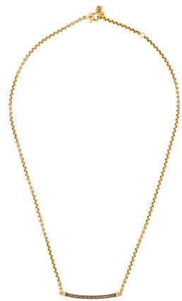 David Yurman 18K Diamond Petite Pavé Metro Chain Necklace
