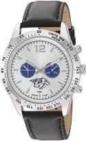 Game Time Men's NHL-LET-NAS Letterman Analog Display Japanese Quartz Black Watch