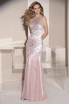 Alyce Paris - Dazzling Bateau Mermaid Long Evening Gown with Crystal Embellished Bodice 29784