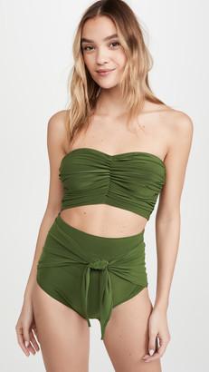 Norma Kamali Cropped Bikini Top