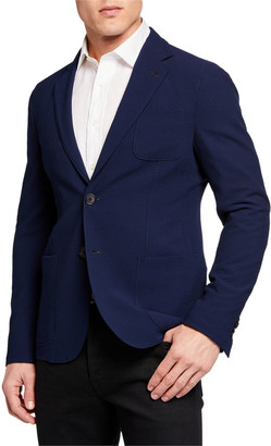 Giorgio Armani Men's Solid Stretch Seersucker Sport Coat