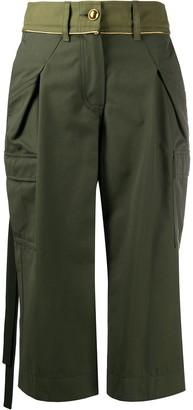 Sacai Cargo Pocket Cropped Trousers