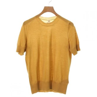 Hermes Yellow Cashmere Top for Women