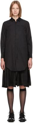 Noir Kei Ninomiya Black Pleated Back Shirt Dress
