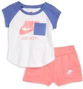 Nike Infant Girl's Pocket Tee & French Terry Shorts Set