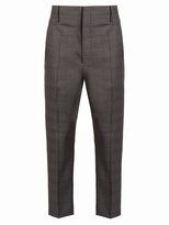 Etoile Isabel Marant Noah tapered-leg checked wool trousers