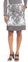 HUGO BOSS Vaneki Snake Jacquard A-Line Skirt