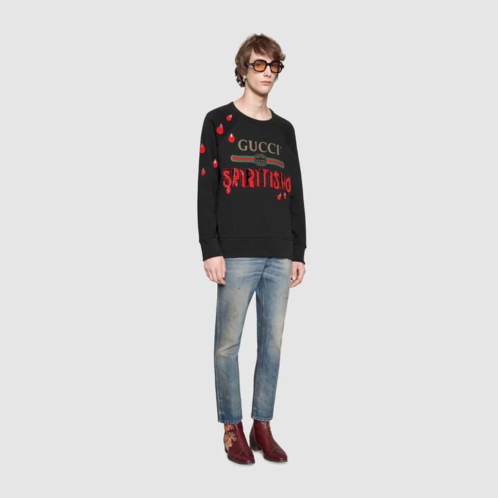 "Gucci logo sweatshirt with ""Spiritismo"""