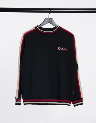 Kickers relaxed sweatshirt with embroidered logo and retro stripe